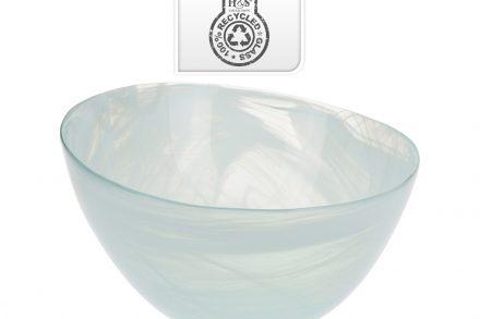 Γυάλινη Σαλατιέρα Μπολ σε Οβάλ Σχήμα από 100% ανακυκλωμένο γυαλί