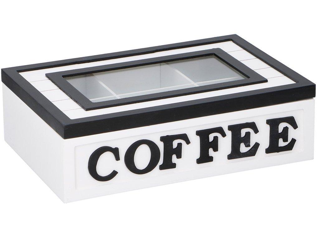 Arti Casa Ξύλινο Πρακτικό Κουτί αποθήκευσης για φακελάκια καφέ