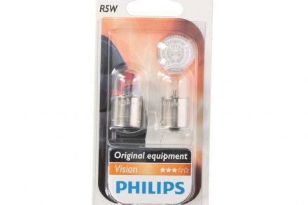 Philips Σετ Λάμπες Αυτοκινήτου 2 τεμάχια R5W 12V 5W Vision