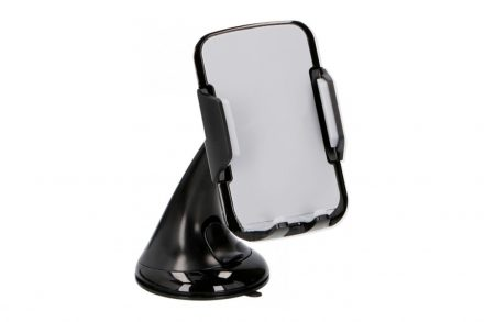 Dunlop Universal Βάση Αυτοκινήτου για Κινητά Smartphones Tablets και GPS με κουμπί για ρύθμιση του πλάτους για διάφορες συσκευές σε Μαύρο χρώμα