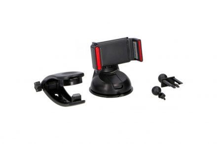 Dunlop Βάση Αυτοκινήτου Πολλαπλών Θέσεων για Κινητά Smartphones με ρύθμιση του πλάτους για διάφορες συσκευές σε Μαύρο χρώμα