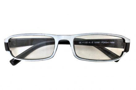 Fashion Zone Unisex Γυαλιά Πρεσβυωπίας Διαβάσματος με Λεπτό Μαύρο-Λευκό σκελετό και βαθμό +3.00
