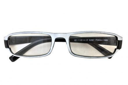 Lifetime Vision Unisex Γυαλιά Πρεσβυωπίας Διαβάσματος με Λεπτό Μαύρο-Λευκό σκελετό και βαθμό +2.50