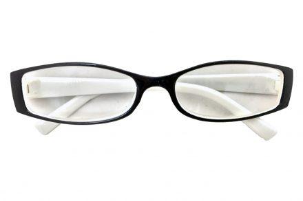 Fashion Zone Unisex Γυαλιά Πρεσβυωπίας Διαβάσματος με Λεπτό Λευκό-Μαύρο σκελετό και βαθμό +1.50