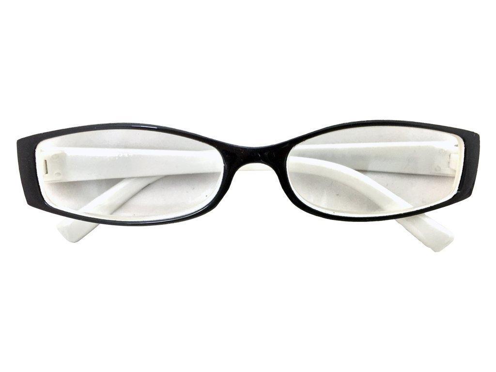 Fashion Zone Unisex Γυαλιά Πρεσβυωπίας Διαβάσματος με Λεπτό Λευκό-Μαύρο σκελετό και βαθμό +2.50