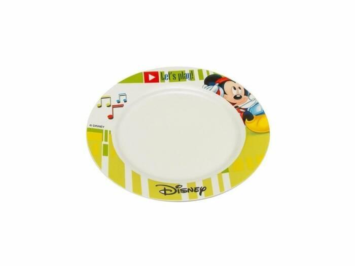 Disney Παιδικό Πιάτο φαγητού 19cm από Πορσελάνη με θέμα Mickey Mouse