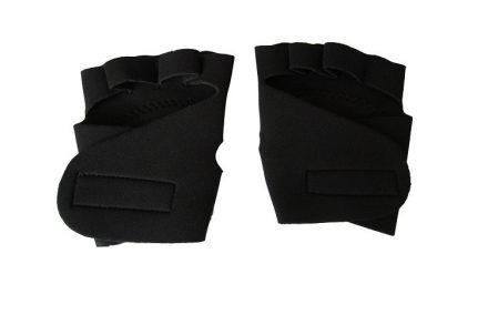 Kfit Γάντια Γυμναστικής σε μαύρο χρώμα με προστατευτική επένδυση