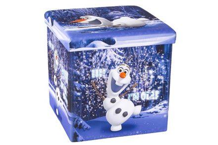 Παιδικό Σκαμπό Πτυσσόμενο με Αποθηκευτικό Χώρο με θέμα τον OLAF απο την ταινία Frozen της DISNEY 38x38x38cm