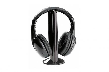 Esperanza Ακουστικά 58db με λειτουργία Wireless FM σε Μαύρο χρώμα