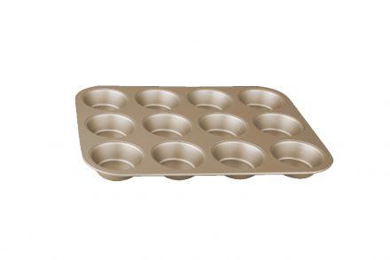 Berlinger Haus Φόρμα ψησίματος 12 θέσεων για Muffins με Τριπλή Αντικολλητική Επίστρωση σε Μπρονζέ χρώμα