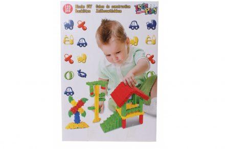 Σετ Πλαστικά Συμπαγή Τουβλάκια 120 τεμαχίων για ατέλειωτες ώρες Παιχνιδιού και Δημιουργίας κατάλληλο για Παιδιά άνω των 3 ετών