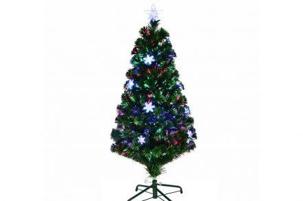 Τεχνητό Χριστουγεννιάτικο Δέντρο τύπου Έλατο με πολύχρωμες Οπτικές Ίνες και Αστέρια