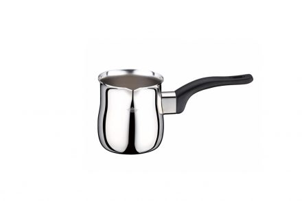 Peterhof Μπρίκι για Ελληνικό καφέ από Ανοξείδωτο ατσάλι με Μαύρη λαβή