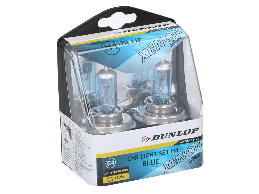 Dunlop Φώτα XENON H4 55W Αυτοκινήτου Πλήρες Kit σε Μπλε χρώμα - Dunlop