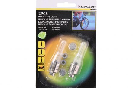 Dunlop Σετ Λάμπες για την ρόδα του ποδηλάτου με πολύχρωμο φωτισμό