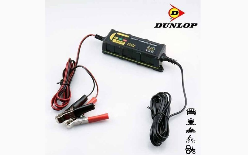 Dunlop Έξυπνος φορτιστής Μπαταρίας Αυτοκινήτου και Μοτοσικλέτας 1Α ~ 12Volt - Dunlop Vehicle
