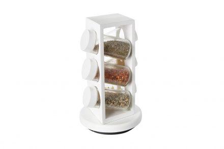 Luigi Ferrero Σετ Βαζάκια Μπαχαρικών με Όρθια Λευκή Βάση