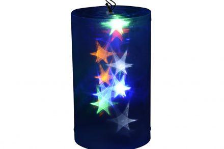 Christmas Gifts Διακοσμητικό Χριστουγεννιάτικο Φωτιστικό με ολόγραμμα Αστέρια με φωτισμό LED και εναλλαγή χρωμάτων