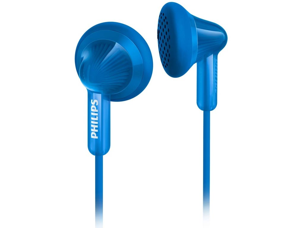 Philips Ακουστικά Ψείρες Stereo (In-ear) Earbuds Δυναμικού τύπου με 1m καλώδιο σε Μπλε χρώμα
