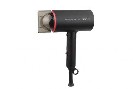 Sogo Πτυσσόμενο Πιστολάκι Σεσουάρ Μαλλιών 1400W με 2 Ταχύτητες και Λειτουργία Κρύου αέρα σε Μαύρο χρώμα