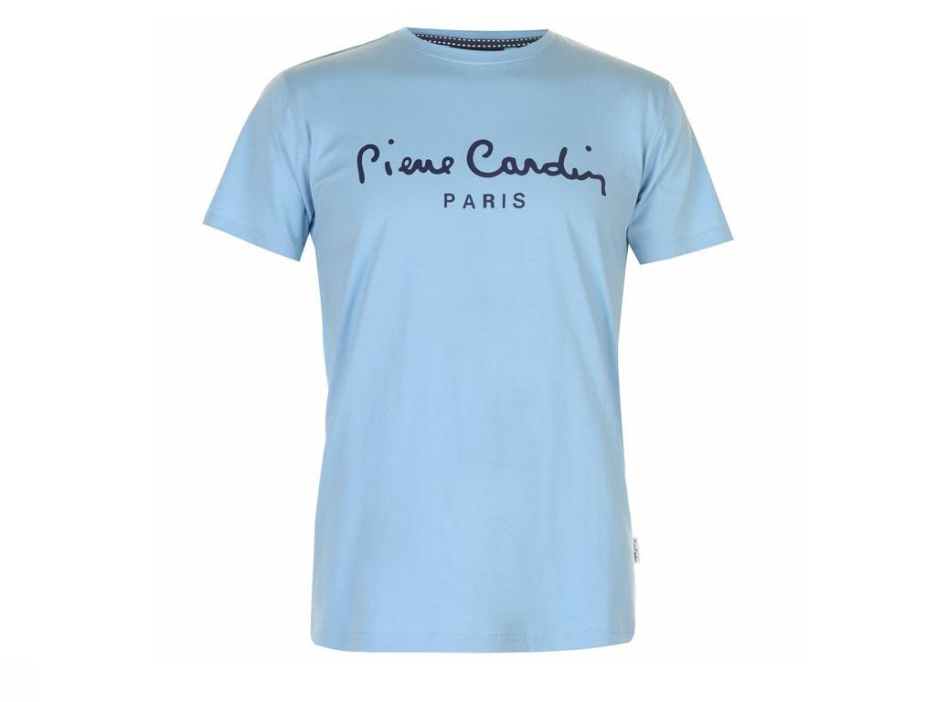 Pierre Cardin Ανδρικό μπλουζάκι T-Shirt με τυπωμένο λογότυπο και κοντό μανίκι σε χρώμα Sky Blue - Pierre Cardin