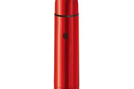 Berlinger Haus Ανοξείδωτος Θερμός 1L Κενού Αέρα για Καφέ και Ροφήματα σε Burgundy χρώμα