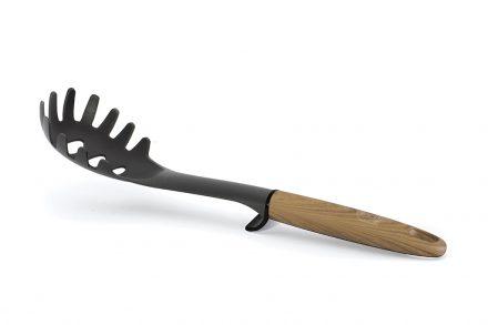 Berlinger Haus Εργαλείο Κουζίνας Τρυπητή Πιρούνα για μακαρόνια Spaghetti σε Μαύρο χρώμα με Λαβή τύπου ξύλο