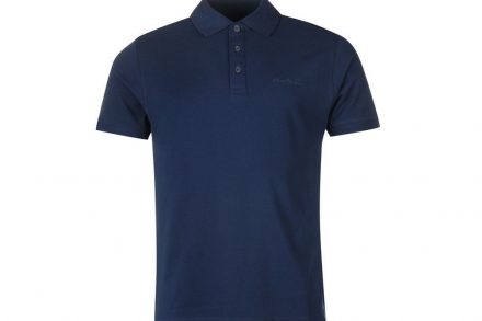 Pierre Cardin Ανδρικό μπλουζάκι polo T-Shirt με κοντό μανίκι και κουμπιά σε Navy χρώμα - Pierre Cardin