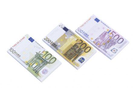 Μπλοκ Σημειώσεων Σημειωματάριο Χαρτονομίσματα 100 φύλλων σε 3 σχέδια