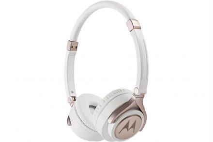 Motorola Ρυθμιζόμενα Στερεοφωνικά Ακουστικά On-Ear 100dB σε Λευκό χρώμα