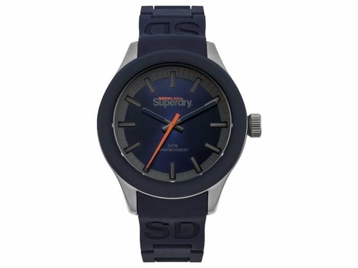 Superdry Ανδρικό Ρολόι χειρός με Μπλε σκούρο καντράν 43m