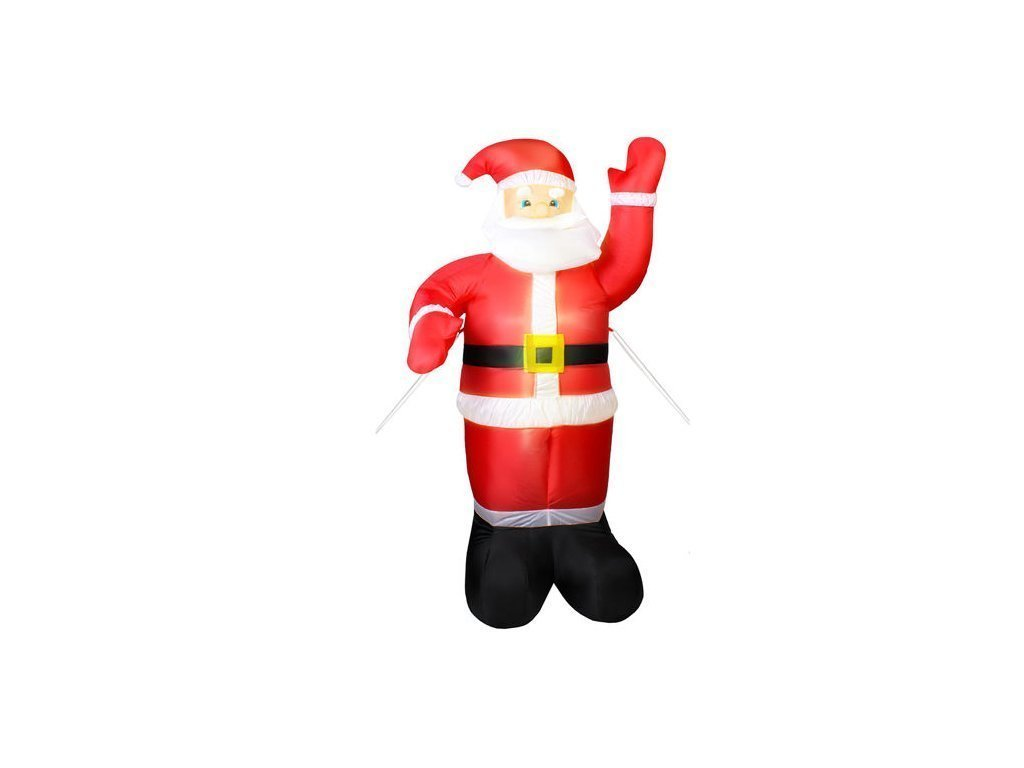 Διακοσμητικός Φουσκωτός Φωτιζόμενος Χριστουγεννιάτικος Γίγας  Άγιος Βασίλης