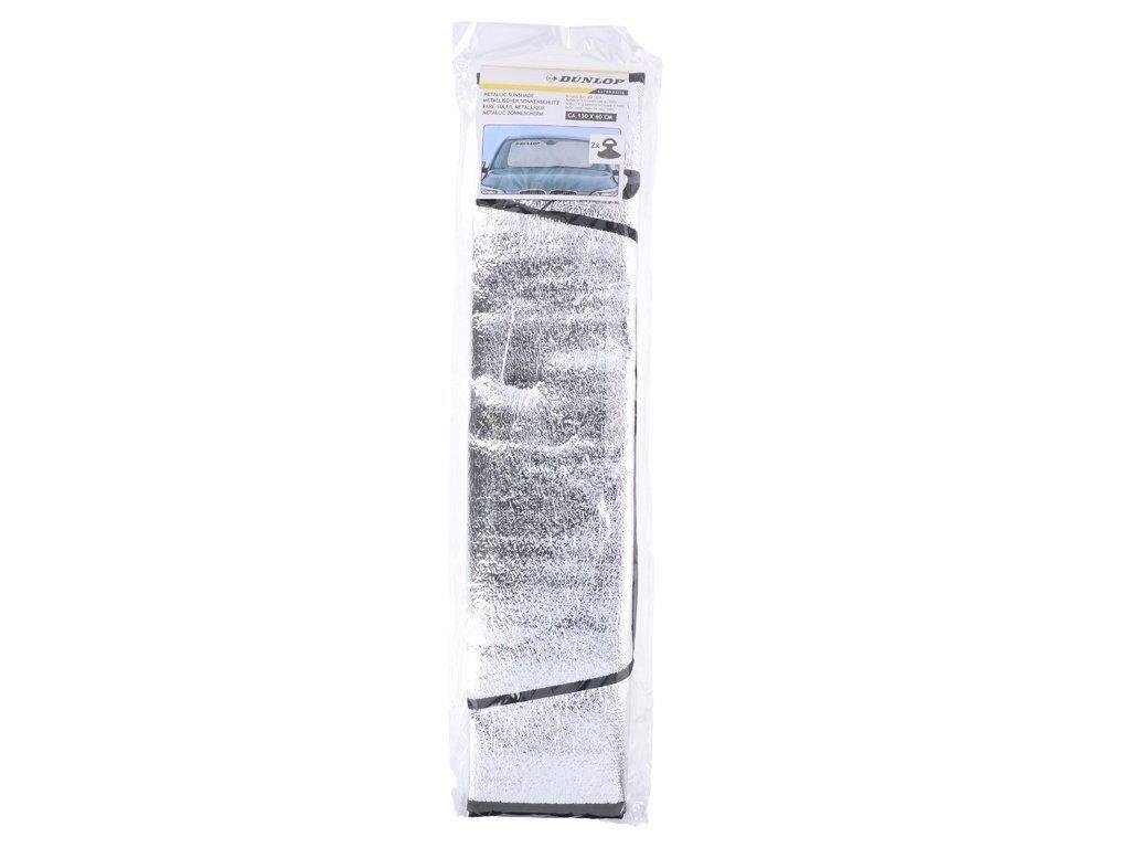 "Dunlop Universal Εσωτερική Ηλιοπροστασία ""Metallic White"" Κάλυμμα Παρμπρίζ Αυτοκινήτου"