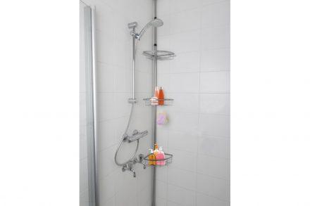 Bath & Shower Γωνιακό Τηλεσκοπικό Ράφι για το Μπάνιο με 3 ράφια με ρυθμιζόμενο ύψος έως 250cm