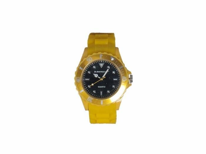 Dunlop Ρολόι Trendy Unisex Ελβετικός Μηχανισμός Quartz Λουράκι από Σιλικόνη Κίτρινο με Λευκές/Ασημί ενδείξεις