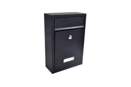 Γραμματοκιβώτιο εξωτερικού χώρου από γαλβανισμένο χάλυβα και κλειδαριά ασφαλείας σε Μαύρο χρώμα