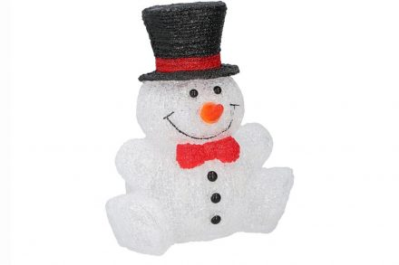 Christmas Gifts Χριστουγεννιάτικος Ακρυλικός Χιονάνθρωπος 3D με 30 λαμπάκια Led