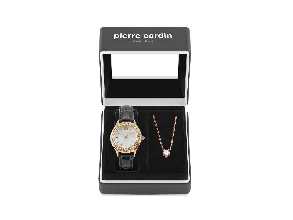Pierre Cardin Gift Set PCX6556L290 Σετ συλλογή Κοσμημάτων με Γυναικείο Ρολόι σε Rosegold χρώμα και κολιέ σε συσκευασία δώρου - Pierre Cardin