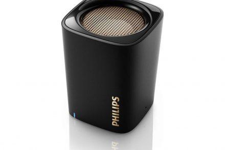 Philips Φορητό Ηχείο Bluetooth 2W με ενσωματωμένο Μικρόφωνο και επαναφορτιζόμενη μπαταρία σε Μαύρο χρώμα - Philips