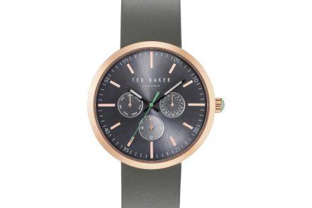 Ted Baker Ανδρικό ρολόι χειρός 42mm με Μαύρο καντράν