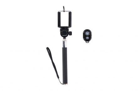Bluetooth Selfie Stick Πτυσσόμενο Μπαστούνι Κάμερας για Φωτογραφίες με Τηλεχειριστήριο