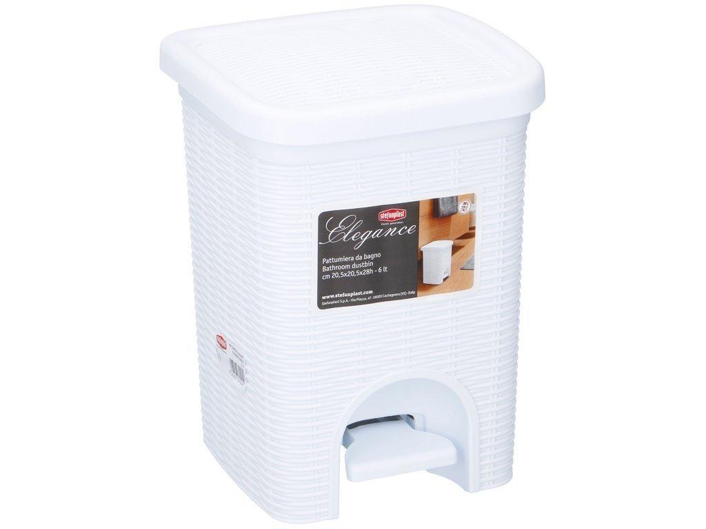 Κάδος Απορριμάτων 6 λίτρα με Πεντάλ Ιδανικός για Μπάνιο και Κουζίνα σε Λευκό χρώμα
