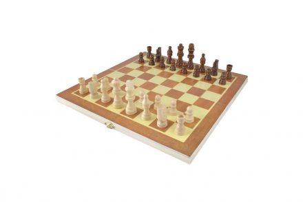 Ξύλινο Επιτραπέζιο Παιχνίδι Σκάκι διαστάσεων 34x34 εκατοστά και ξύλινα πούλια