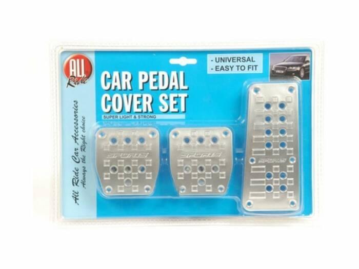 All Ride Universal Σετ Αντιολισθητικά Καλύμματα 3 τεμ. για τα Πετάλια του Αυτοκινήτου σε Ασημί χρώμα