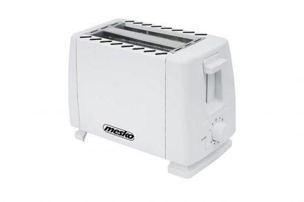 Mesko Φρυγανιέρα max700W 2 θέσεων με Ρυθμιζόμενη Θερμοκρασία σε Λευκό χρώμα - Mesko