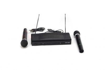 Σύστημα Καραόκε Karaoke με 2 μικρόφωνα και ασύρματο δέκτη με ενισχυμένη λήψη 2 καναλιών