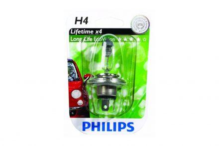 Philips Λάμπα Αυτοκινήτου h4 LongLife EcoVision 60-55W 1650LM