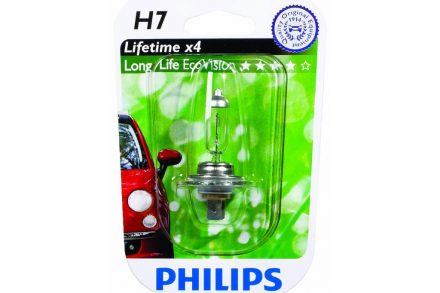 Philips Λάμπα Αυτοκινήτου H7 LongLife EcoVision 55W 1500LM Lifetime x4