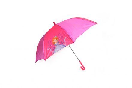Disney Παιδική Ομπρέλα με μπαστούνι διαμέτρου 66cm με θέμα Πριγκίπισσα σε Φούξια χρώμα