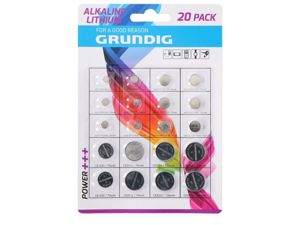 Αλκαλικές Μπαταρίες Κουμπιά Στρογγυλές 20 τεμαχίων διαφορετικού μεγέθους